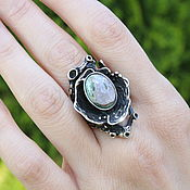 Украшения handmade. Livemaster - original item Ethnic Avant-Garde Series Ring with 925 silver agate HB0077. Handmade.