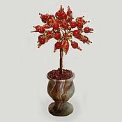 Цветы и флористика handmade. Livemaster - original item Tree of coral in a vase of onyx