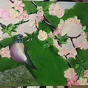 Картины и панно ручной работы. Ярмарка Мастеров - ручная работа Яблоня в цвету. Handmade.