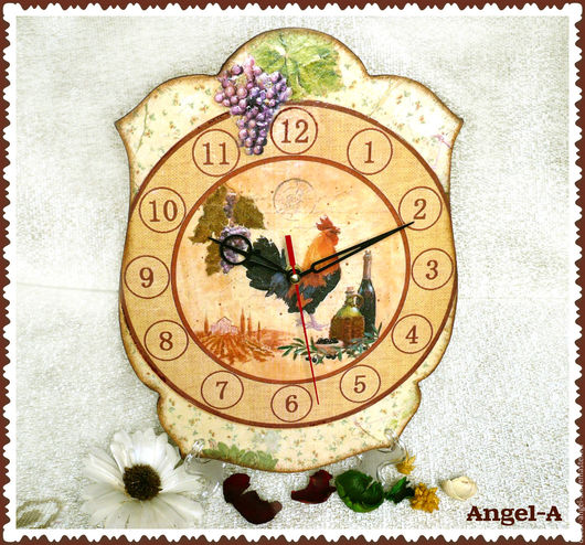 Часы `Прованс`  Анжела (decor-angel-a) 1200 руб.