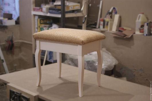 Мебель ручной работы. Ярмарка Мастеров - ручная работа. Купить Банкетка на изогнутых ножках. Handmade. Комбинированный, дерево, кабриоль, эмаль
