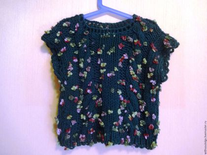 """Одежда для девочек, ручной работы. Ярмарка Мастеров - ручная работа. Купить Жилет детский """"Полянка"""" (ручное вязание). Handmade."""