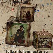 Для дома и интерьера ручной работы. Ярмарка Мастеров - ручная работа Цирковые кубики. Handmade.