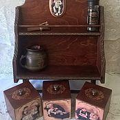 Для дома и интерьера ручной работы. Ярмарка Мастеров - ручная работа Полка с коробами для специй. Handmade.