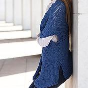 Одежда ручной работы. Ярмарка Мастеров - ручная работа Кардиган из хлопка голубой. Handmade.