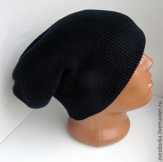 """Шапки ручной работы. Ярмарка Мастеров - ручная работа. Купить шапка мужская """"Galaxy man"""". Handmade. Тёмно-синий, меринос"""