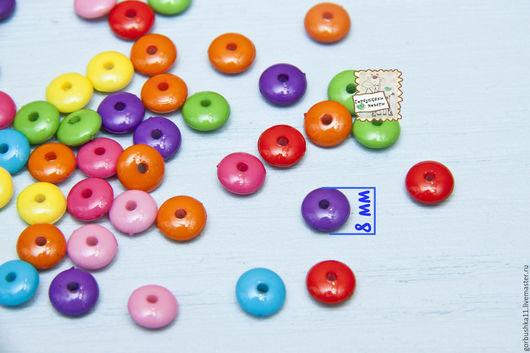 Фото Бусины акриловые круглые мелкие Товары для творчества Горбушкины товары