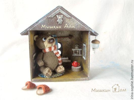 Кукольный дом ручной работы. Ярмарка Мастеров - ручная работа. Купить Мишкин дом. Миниатюра. Handmade. Дом, домик игрушка