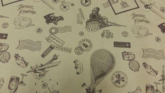"""Упаковка ручной работы. Ярмарка Мастеров - ручная работа. Купить Крафтовая бумага """"Вокруг света"""". Handmade. Крафт-бумага, упаковка"""