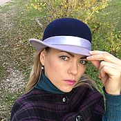 Аксессуары ручной работы. Ярмарка Мастеров - ручная работа Фетровая шляпа двухцветная. Handmade.