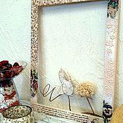 """Сувениры и подарки ручной работы. Ярмарка Мастеров - ручная работа Фоторамка со стеклом  """"Напиши мне пару строк..."""" дерево, декупаж. Handmade."""