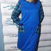 Платья ручной работы. Ярмарка Мастеров - ручная работа Синее платье с карманами. Handmade.