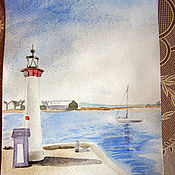 Картины и панно ручной работы. Ярмарка Мастеров - ручная работа Утро на заливе...). Handmade.