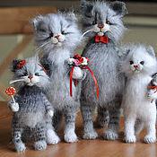 handmade. Livemaster - original item The cat family. Handmade.