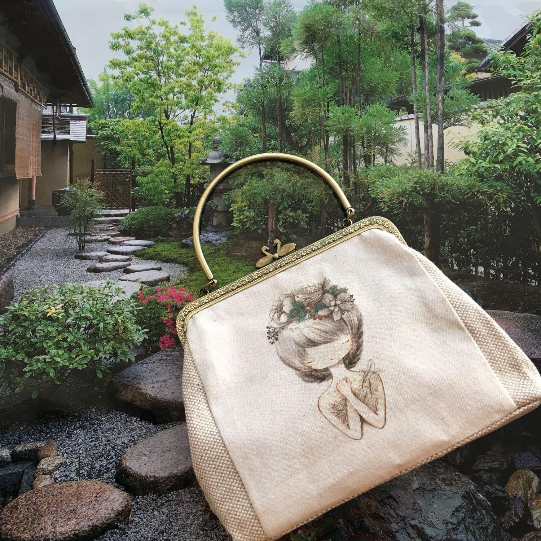 Handbags handmade. Livemaster - handmade. Buy Vintage style linen 6d866b3a88afe