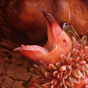 """Украшения ручной работы. Ярмарка Мастеров - ручная работа """"Гримория, цветок морского ястреба"""", брошь из фарфора. Handmade."""