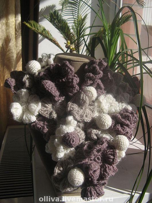Шарфы и шарфики ручной работы. Ярмарка Мастеров - ручная работа. Купить шарф из цветов. Handmade. Пряжа, шерсть, цветы, шарф