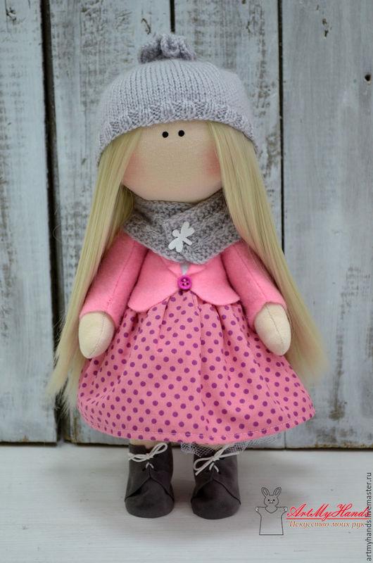 Коллекционные куклы ручной работы. Ярмарка Мастеров - ручная работа. Купить Интерьерная куколка. Handmade. Розовый, Кукла для интерьера