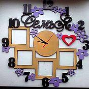 Часы классические ручной работы. Ярмарка Мастеров - ручная работа Часы уют 2. Handmade.
