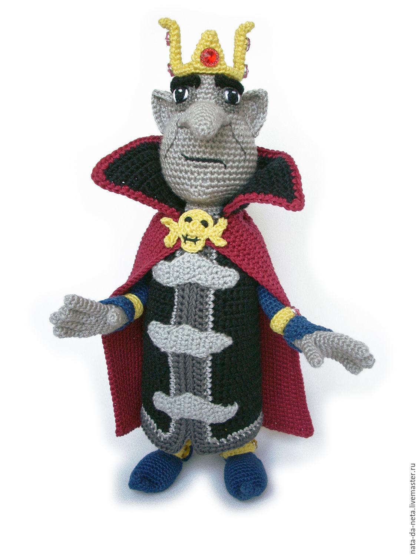 Кощей Бессмертный вязаный.Кукла игровая, интерьерная, Мягкие игрушки, Пенза,  Фото №1