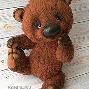 Мягкие игрушки ручной работы. Ярмарка Мастеров - ручная работа Медвежонок Митька. Handmade.