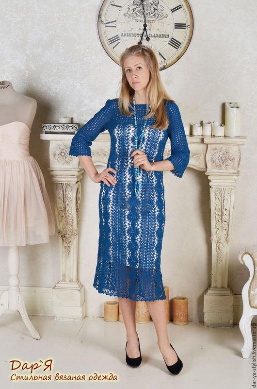 """Платья ручной работы. Ярмарка Мастеров - ручная работа. Купить """"Рerla del mar"""" Кружевное вязаное платье. Handmade. Платье"""