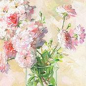 Картины и панно ручной работы. Ярмарка Мастеров - ручная работа Картина Нежные розы. Handmade.