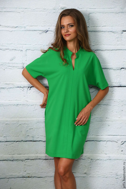 Платья ручной работы. Ярмарка Мастеров - ручная работа. Купить Платье Катания арт.5400. Handmade. Ярко-зелёный