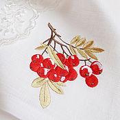 Для дома и интерьера handmade. Livemaster - original item napkin with embroidery