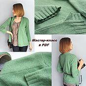 Материалы для творчества handmade. Livemaster - original item Master class on knitting cashmere cardigan Spring. Handmade.