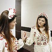 """Одежда ручной работы. Ярмарка Мастеров - ручная работа платье вязаное шишками и аранами """"Райские яблочки"""". Handmade."""