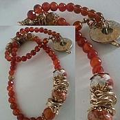 Украшения handmade. Livemaster - original item Bracelet of carnelian and agate. Handmade.