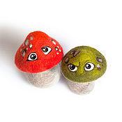 """Куклы и игрушки ручной работы. Ярмарка Мастеров - ручная работа Валяные грибы """"Из Рязани"""". Handmade."""