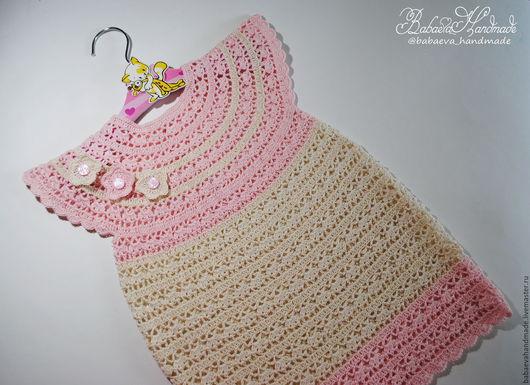 """Одежда для девочек, ручной работы. Ярмарка Мастеров - ручная работа. Купить Платье """"Шебби"""". Handmade. Бледно-розовый, детское платье"""