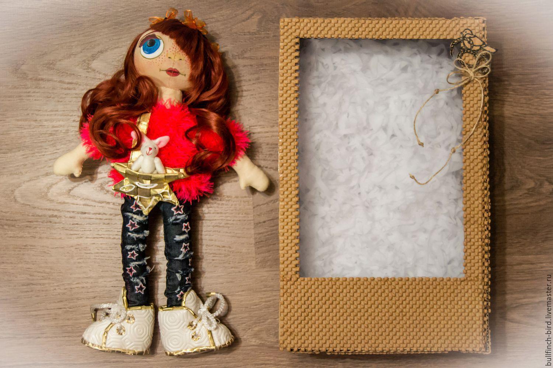 Текстильная кукла ручной работы рыжуля Мадлен