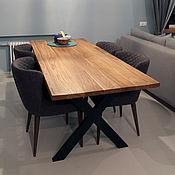Столы ручной работы. Ярмарка Мастеров - ручная работа Стол в стиле лофт из массива дуба. Handmade.