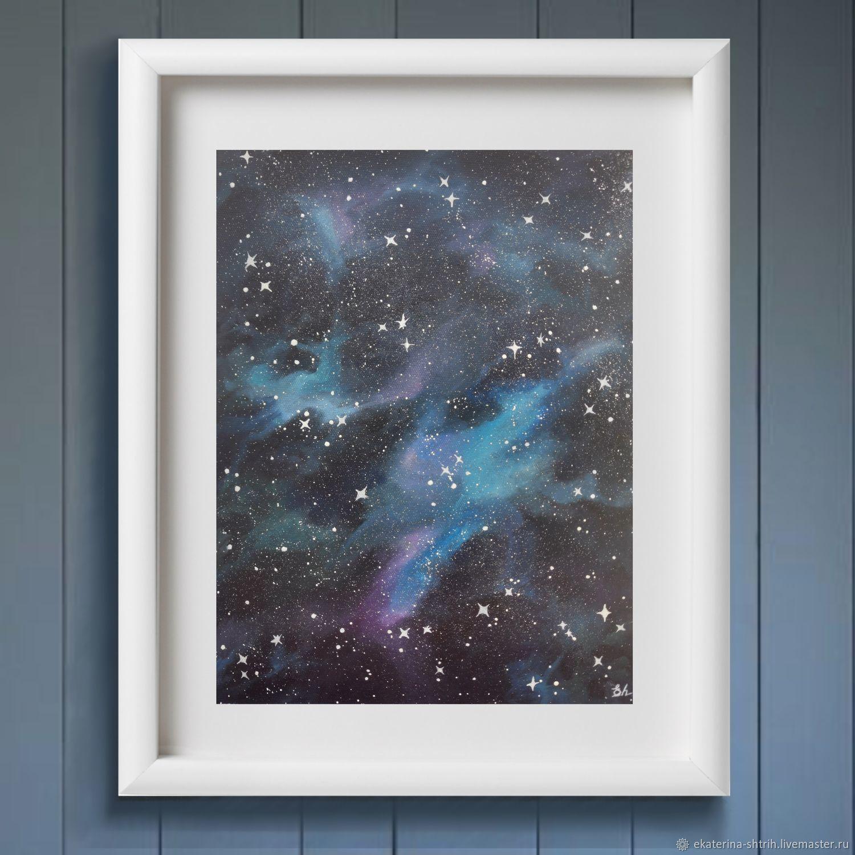 Картина маслом с космосом. Вселенная, Картины, Иваново,  Фото №1