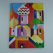 Картины и панно ручной работы. Ярмарка Мастеров - ручная работа Картина-абстракция  Моя Москва. Handmade.