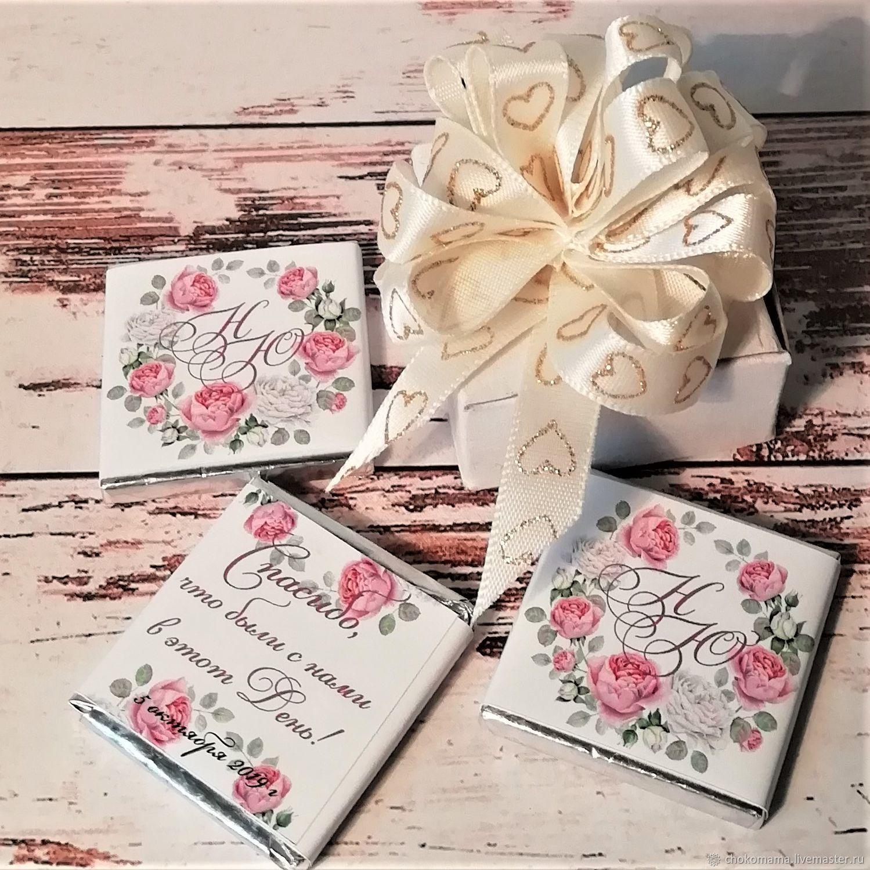 Подарки гостям - свадебные шоколадки арт 019-1-1, Подарки, Фрязино,  Фото №1