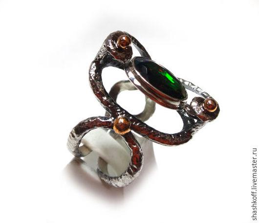 """Кольца ручной работы. Ярмарка Мастеров - ручная работа. Купить Кольцо """"Блики Мечты"""". Handmade. Комбинированный, подвижный камень"""