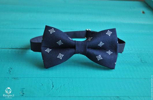 Галстуки, бабочки ручной работы. Ярмарка Мастеров - ручная работа. Купить Галстук бабочка Лорд / темно синяя бабочка-галстук с узором. Handmade.