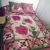 Для дома и интерьера ручной работы. Ярмарка Мастеров - ручная работа Лоскутное покрывало Розовое счастье. Handmade.
