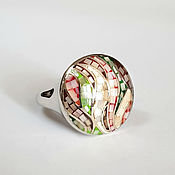 handmade. Livemaster - original item Silver ring amulet talisman: mother of pearl