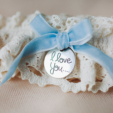 Свадебный салон ручной работы. Ярмарка Мастеров - ручная работа Подвязка из хлопкового кружева, подвязка для невесты. Handmade.