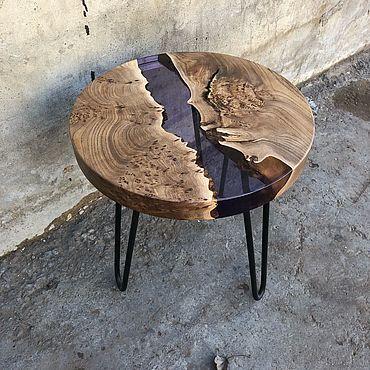 Для дома и интерьера ручной работы. Ярмарка Мастеров - ручная работа Кофейный стол с заливкой. Handmade.