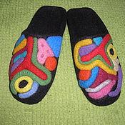 """Обувь ручной работы. Ярмарка Мастеров - ручная работа Тапочки """"Тайные знаки"""". Handmade."""