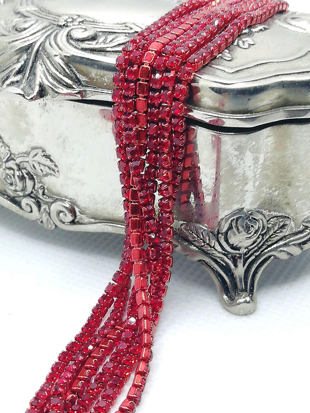 Cinta de diamantes de imitación rojo 2mm, Chains, St. Petersburg,  Фото №1