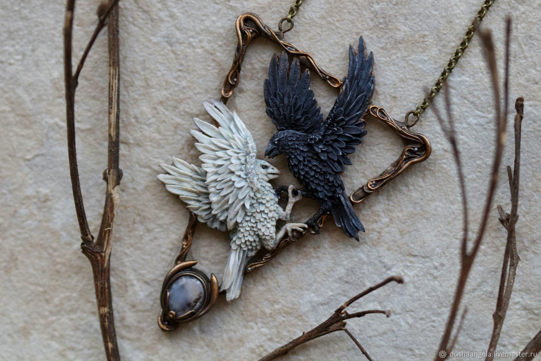 ' Lucta ' birds, art Nouveau, sculpture, Necklace, Vladimir,  Фото №1