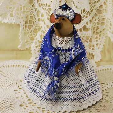 Куклы и игрушки ручной работы. Ярмарка Мастеров - ручная работа Игрушки: Мышка текстильная интерьерная. Handmade.