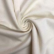 Материалы для творчества ручной работы. Ярмарка Мастеров - ручная работа Ткань 05801 итальянская молочная пальтовая, костюмная  шерсть. Handmade.